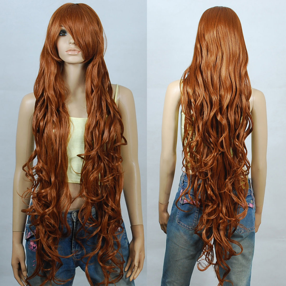 ePacket Free shipping&gt;120cm Chocolate Brown Extra Long Curly Cosplay Wigs Seamlessly Contours 3A_030<br><br>Aliexpress