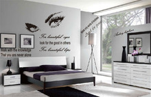 ZOOYOO Big Eyes Beautiful Art Vinyl Wall Sticker Home Decor Letters Words Wall decals