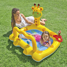 inflatable pool giant piscina large infant baby plastic swimming pools for kids large children's paddling pool Giraffe Cartoon(China)