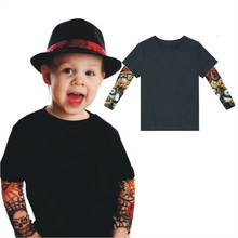 Children clothing Boys t shirt children tattoo t shirts big girls clothing summer kids tops baby brand short sleeve tops child t