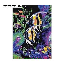 ZOOYA Diamond Painting Diamond Embroidery Crafts DIY Home Decoration Diamond Embroidery Picture Mosaic Kit Marine Fish SF168(China)