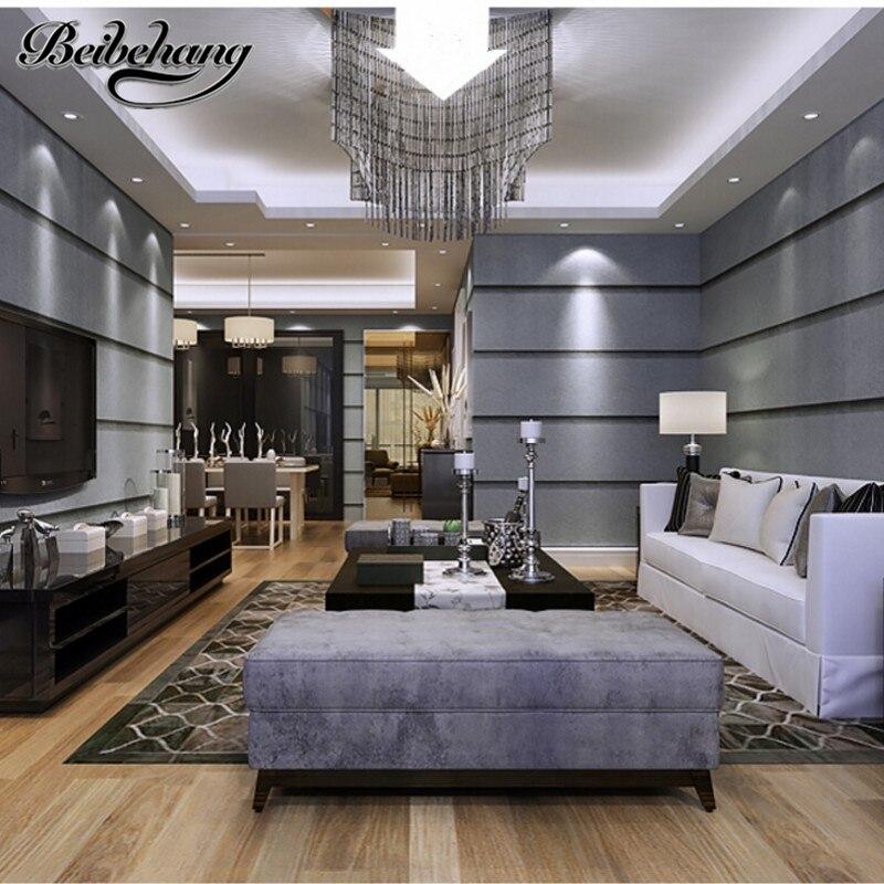 beibehang Stereoscopic 3D wallpaper modern minimalist art of imitation marble, vertical stripes woven wallpaper TV background<br>