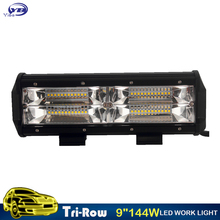 YB Yiba 9 inch 144W new wide beam new design reflector 4x4 truck auto car high power offroad 12v 24v led work light for JEEP car(China)