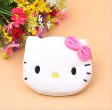 Coin Purse & Wallet Pouch Lady's Purses Plush Hello Kitty Kids Girl's Storage Bag Case Handbag Women bow mini pink wallets EWX