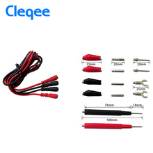 Cleqee P1500 Test Leads kit Cable Alligator Digital Multifunction Probe Silicone Test Tool Tester Multimeter Test Clips(China)