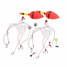 2 PCS Fishing Floats Fish Sea Monsters Box with Six Strong Explosion Hooks Tackle