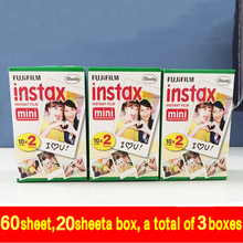 Original Fuji Fujifilm Instax Mini 8 Film 60 pcs White Edge Photo Papers For Polaroid 7s 8 90 25Share SP-1 Instant Camera