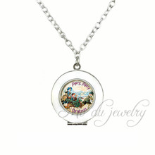 Family Art Picture Glass Dome Pendant Memory Locket Necklaces Merry Merry Christmas Choker Necklace Jewelry Handmade Xmas Gifts(China)