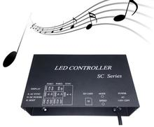 H803SC;SD card LED music pixel controller;support DMX512,WS2812,etc.microphone&audio cable input