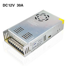 12V 30A 360W Universal Switching Power Supply Driver Transformer Input AC220V/110V Output DC12V for LED Strip Light CCTV Project(China)