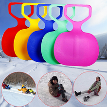 Outdoor Winter Plastic Skiing Boards Sled Luge Snow Grass Sand Board Sledge Ski Pad Snowboard For Kids/Adult