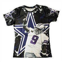 Handsome! Dallas Tony Romo 3D Printed T-Shirts Short Sleeve O-Neck Tshirts For American Fans Tees Plus Size 5XL(Hong Kong)