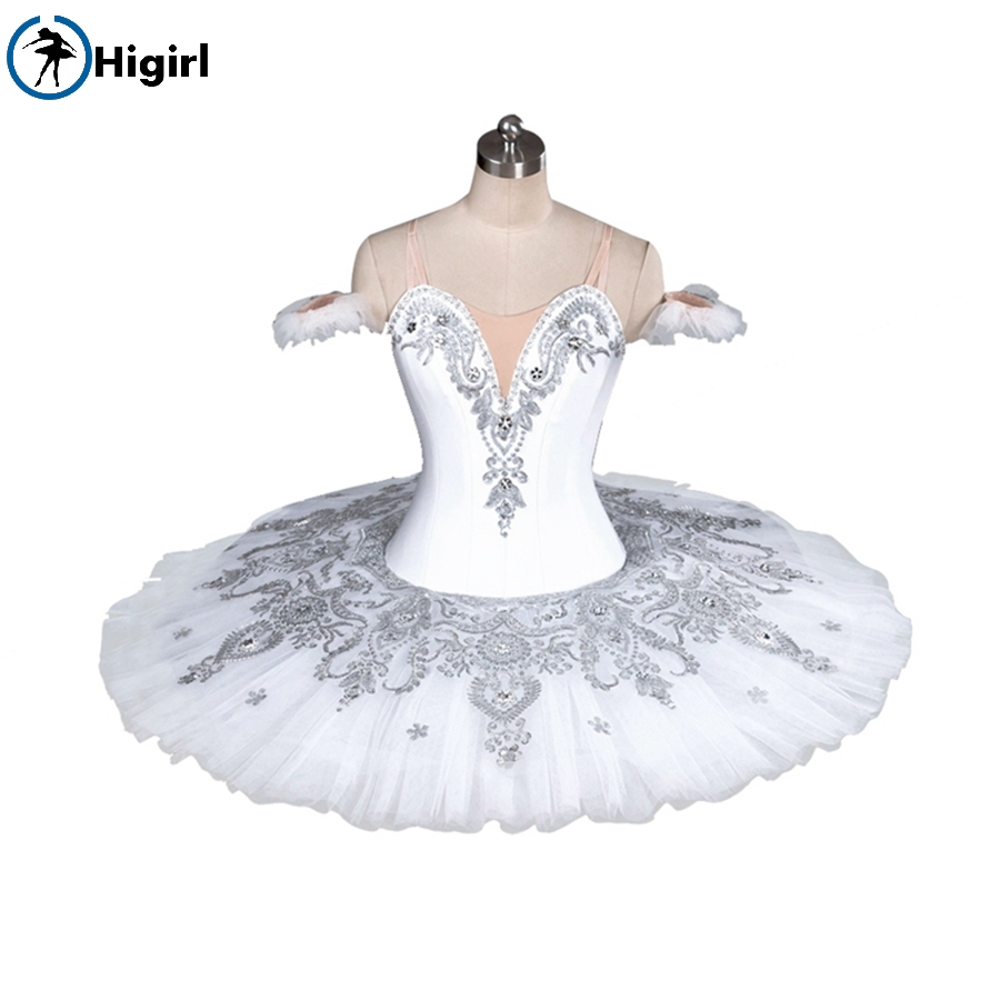 Girls professional tutu white ballet costume adult white swan lake ballet tutu pancake tutu child tutu balletBT9082A
