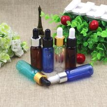 30pcs/lot 10ml 15ml 20ml essential  oils bottle Perfumes  Plastic Bottles Glass Dropper Container Refillable Bottles packaging