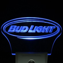 ws0001 Bud Light Bar Beer Decor Day/ Night Sensor LED Night Light Sign(China)