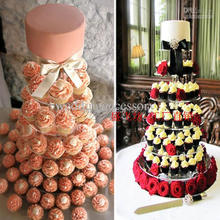 7 Tier Acrylic Round Cupcake Stand Birthday Party Display wedding cake stand champagne tower wine tower(China)