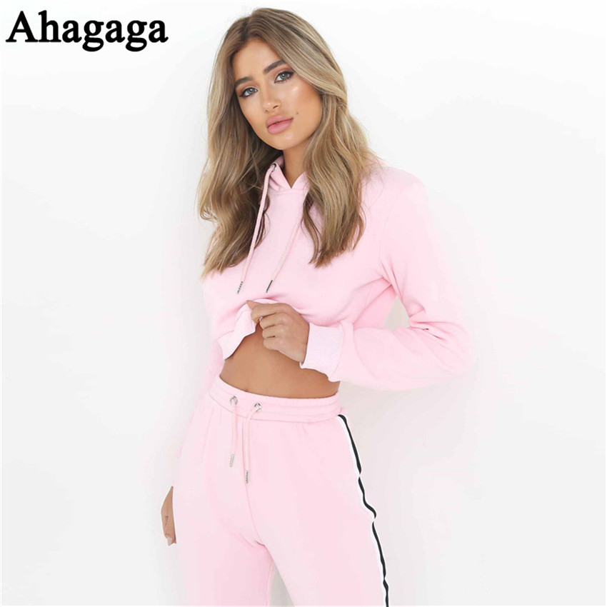 Women's Tracksuits Set, Casual Hooded Sweatsuit Set 21