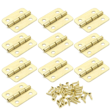 10x Kitchen Cabinet Door 4 Holes Drawer Hinges Jewelry Box Furniture 18x16mm t15(China)