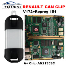 Best Quality Full Chip CYPRESS AN2135SC Renault Can Clip V172 OBD2 Diagnostic Interface Multi-Language Can Clip For Renault(China)