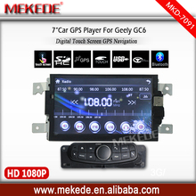 Free shipping free map card gift 7inch car radio cassette multimedia player for geely gc6 with Multi-language menu bluetooth
