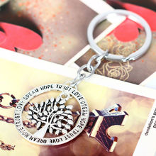 Trust Love Dream Hope Life Tree Keyring Best Gifts For Friend Women Men Wedding Keychain Family Key Ring Party Chain Jewelry