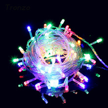 Tronzo Christmas light Xmas Tree Ornament Outdoor LED Waterproof String Fairy Light Christmas Decoration For Home EU Plug New