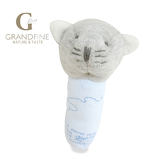 Luxury fast supplier 13cm cute blue cat baby doll,high quality hand-made,cotton linen Eco material