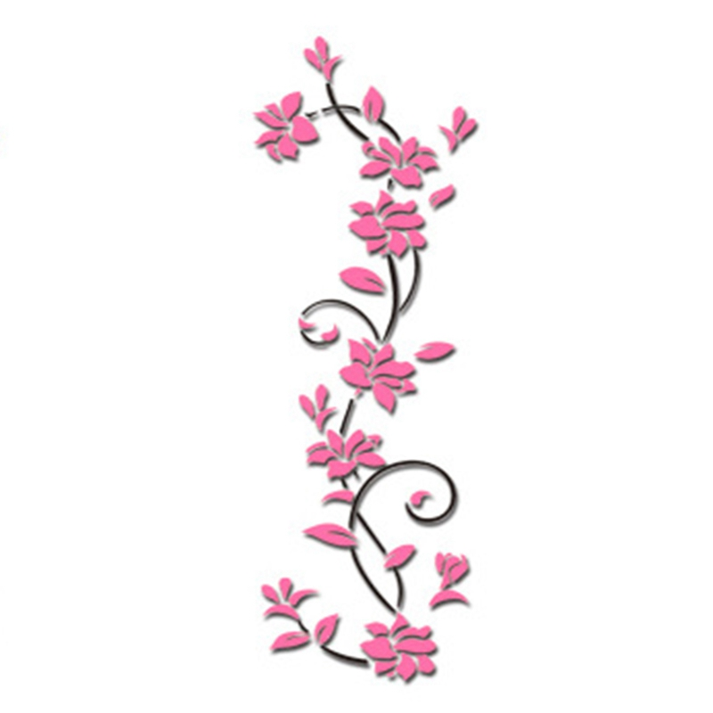 HTB1yC41dlHH8KJjy0Fbq6AqlpXaG - Hoomall Acrylic Flower Wall Stickers Poster New Year Decorations Removable Stickers for Kitchen DIY Wall Stickers for Kids Rooms