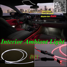 For Fiat Bertone X1 / 9 Car Interior Ambient Light Panel illumination For Car Inside Cool Strip Light Optic Fiber Band(China)