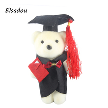 Elsadou 10pcs/lot DIY Graduate Bear Flower Decoration for Girl Doll(China)