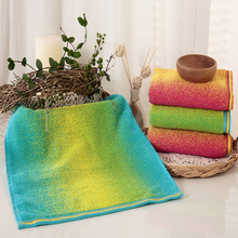 Rainbow 100% Cotton Hand Towel For Face Hair Home Bathroom Outdoor And Travel Towels Soft And Comfort Gradient Colors