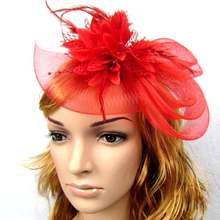 Fashion Fedoras Hat Fascinator Women Hair headband with Feathers and Vintage Fashion Lady French Veiling 9 color Hair Accessorie