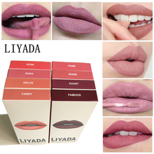 16pcs /lot LIYADA liquid lipstick makeup matte red lips tint kilie set mate lipkit candy k ruj me nude brand lip gloss kit batom(China)