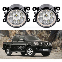 Automobiles 9W Blue Crystal Auxiliary Passing Lamps For Nissan Navara D40 Pickup 05~15 Sentra 07~10 Front Bumper LED Fog Lights(China)