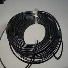 PMMA optical fiber coated with Black Sheath Inner diameter 2.5mm(4.0mm outer diameter) for Showcase