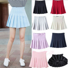 Buy Ladies Womens Female Brief Skirts Casual Women High Waist Plain Skater Flared Pleated Short Summer Mini Skirt for $5.98 in AliExpress store