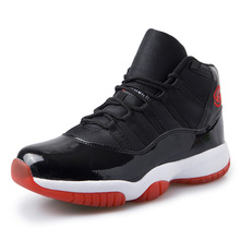 2017 high basketball retro shoes 11 mens leather sneakers white red breathable outdoor sports walking trainers(China)
