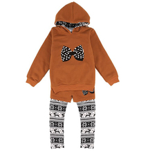 girls set spring autumn baby girls set kid apparel suit long sleeve Hoodies +pants Two Pieces Set Outfit child suit