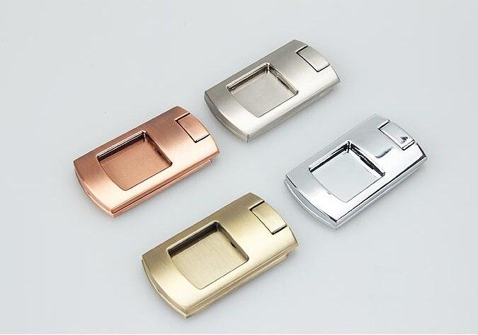 4Pcs/Lot Rectangle Zinc Flap Knob Furniture Cupboard Cabinet Drawer Handle <br><br>Aliexpress