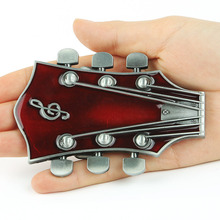 Red Guitar Buckles Good Quality Belts Buckles For Mens New Vintage Belt Buckles New Fashion(China)