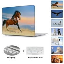 Animal Horse Penguin Polar Bear sleeve Case For Mac book Pro 13 15 Retina display Print Cover For Macbook Air 13 Air 11 12 inch