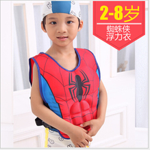 life vest life jacket for 2-8years child safety fishing water survival in swimwear Superman Spider-man Batman Buoyancy Clothing(China)