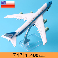 United States Air force one B747-200 Airlines plane model 16cm Men's Toy Colombia Airplane Diecast Model Aircraft Kids Toys