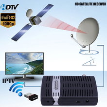 HD Digital Satellite Receiver Support IPTV dvbs2 HD Arabic IPTV Box Full HD Mini Satellite TV Receiver Set top box With USB WIFI