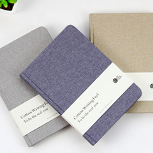 Plain cotton cloth billbook 100% brief notepad blank notebook stationery sketchbook for school supplies notebook