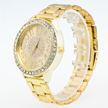 2017 New Fashion Gold Silver Luxury Watches Women Luxury Boys Stainless Steel Pointer Quartz Wrist Watch Reloj Mujer