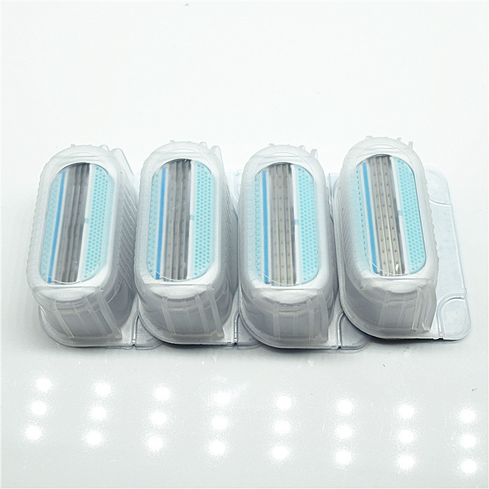 4pcs/lot Beauty Shaving Razor Blade For Women blades female Sharpener to shave venuse(China)