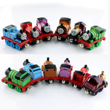 6pcs children's thomas and Friends thomas train set the tank engine metal magnetic tomas car die cast toys cars miniatures gifts(China)