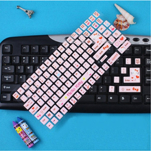 New Cute HELLO KITTY three-dimensional keyboard stickers cute cartoon bubble stickers notebook stickers film children sticker