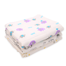 Muslin Blankets for Babies  Four Layers Newborn Swaddle Wrap Baby Summer Blankets Bath Towel Bedding Infant 100*120/120*140